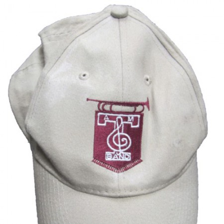 Beige Structured Aggie Band Beige Baseball Cap by Port Authority